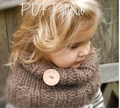 Knitting PATTERNThe Brooklynn Cowl Child and by Thevelvetacorn, $5.50