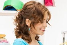 Image result for mid length curly hair