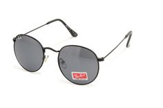 Ray Ban Aviator Round Metal RB3447 Grey Black Sunglasses