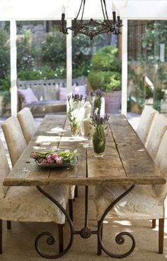 33 Charming And Beautiful Provence Dining Spaces - DigsDigs