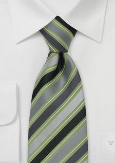 hmm..   Gray & Green Striped Ties