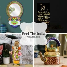 Decor your #home with these unique collection of #Indian #Handicrafts. Get this #Handmade #crafts at amazon.com.