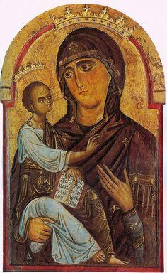 Berlinghiero Berlinghieri (attr.) -  Madonna di sotto gli organi - 1200-20 circa - Pisa, Cattedrale