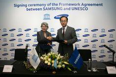 Samsung y UNESCO anuncian su primera alianza global http://www.audienciaelectronica.net/2014/03/19/samsung-y-unesco-anuncian-su-primera-alianza-global/