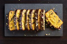 Choc-orange loaf with chocolate glaze