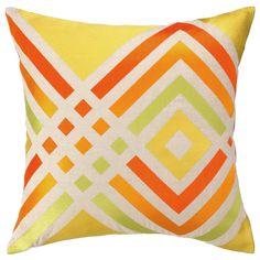 Trina Turk Los Olivos Yellow Embroidered Pillow @Zinc_Door