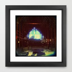 In the Barn Framed Art Print by ADH Graphic Design - $40.00