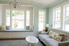 Home office/Den | Wall color Prescott Green by Benjamin Moore