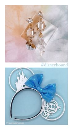 Disney cinderella earrings and disney princess inspiration Cinderella Disney, Disney Princess, Disney Earrings, Disney Bound, Magic Kingdom, Disney Movies, Party Themes, Whimsical, Drop Earrings