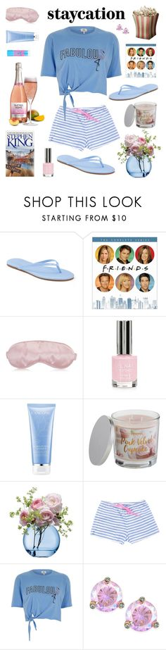 """""""Rest Up: Staycation"""" by hubunch ❤ liked on Polyvore featuring LC Lauren Conrad, Topshop, Lancôme, Maybelline, SONOMA Goods for Life, LSA International, Turkish-T, River Island, Kate Spade and staycation"""