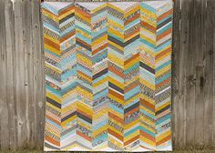 from the blue chair: Scrappy Chevron Quilt