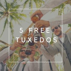 Every month we pick a lucky winner to receive 5 FREE #tuxedo rentals for your #wedding party or event.