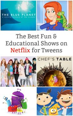 A round up of kid approved fun and educational shows on Netflix that your tween is going to love. Engaging educational programs to expand learning. Netflix Kids Shows, Netflix Tv, Netflix Hacks, Kids Tv Shows, Watch Netflix, Learning Websites, Kids Learning, Educational Programs, Educational Crafts