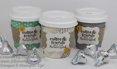 Stampin' Up! Mini Coffee Cups for guests gifts Coffee Cup Crafts, Mini Coffee Cups, To Go Becher, Coffee Varieties, Coffee Cards, Blended Coffee, Craft Fairs, Stampin Up Cards, Making Ideas