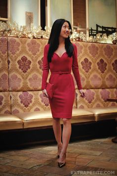 Petite fashion bloggers :: Extra Petite :: #bananarepublic x L'Wren Scott sweetheart neckline dress