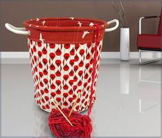 Mix and match your favorite fabrics to create a unique storage solution with this free Jumbo Storage Tote pattern and tutorial by Sew 4 Home. -Sewtorial