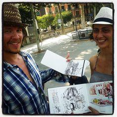 sketchers at #bcn2013usk #moleskine in #barcelona #sharemysketch