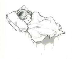 kurt halsey sleepy girl cartoon