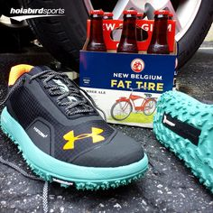 What better gift to give your dad on #FathersDay this year than a NEW pair of @UnderArmour Fat Tire trail #runningshoes and a six pack of @NewBelgium #FatTire! Stop by our showroom today to grab a pair of these bad boys. (Sorry,Beer not included) #runholabird #UnderArmour #RunningShoes #Running #TrailShoes #Beer #NewBelgium #AmberAle #SixPack #IWill #UAStorm #NewShoes #Exclusive