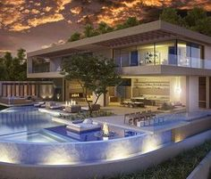 The perfect pad for entertaining guest! A Hollywood Hills contemporary estate designed by @vantagedesigngroup