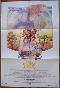The Muppet Movie Soundtrack Insert Poster: 1979, ITC Films, Atlantic Records Original Soundtrack insert poster based on the one-sheet painted by Drew Struzan, NM in the issued fold into sixths format for insertion into the record album jacket, size approximately 22 x 33 inches, designated SD 16001 in the lower right corner. $18