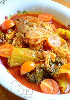 ASAM PEDAS KEPALA IKAN Fish Recipes, Seafood Recipes, Asian Recipes, Cooking Recipes, Malaysian Cuisine, Malaysian Food, Malaysian Recipes, Seafood Diet, Malay Food