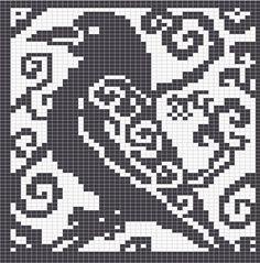 WitchWolfWeb Creations: Spirit Raven Cross Stitch Chart