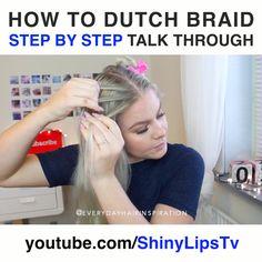 Braiding Your Own Hair, How To Cut Your Own Hair, Braids For Short Hair, Box Braids, Cut Own Hair, How To Make Braids, How To Braid Hair, Braided Hairstyles Tutorials, Dutch Braid Tutorials