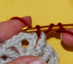 getting rid of chain-3. how to begin a new round/color with the standing DC stitch.
