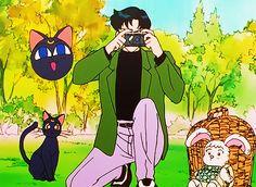 Sailor Moon Stars, Stars And Moon, Sailor Moon Screencaps, Tuxedo Mask, Good Old Times, Chiba, Retro Art, Moonlight, True Love