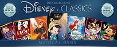 Walt Dinsey Movies DVDS