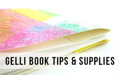 Vintage Page Designs Tutorial. I've had a lot of questions about making books with gelli prints, so I put together a quick blog post: http://vintagepagedesigns.com/tips-supplies-for-gelli-print-books/