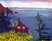 Monhegan Island Paintings - Monhegan Late Afternoon by Debra Bretton Robinson