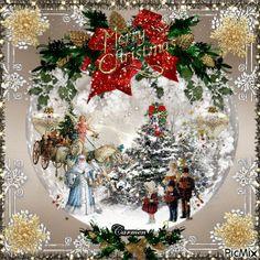 Christmas Scenes, Christmas Art, Christmas Wreaths, Christmas Decorations, Merry Christmas Greetings, Vintage Christmas Cards, Christmas Wishes, Christmas Wonderland, Animated Christmas Pictures