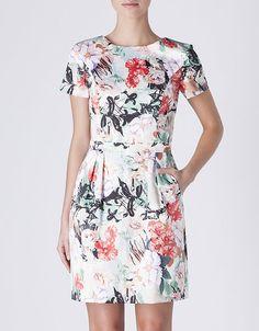 Vestido cetim flores
