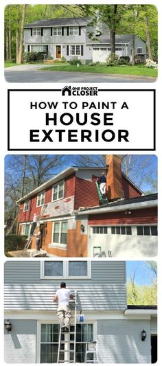 How to Paint A House Exterior and refresh a 1970's two story colonial drab house to look updated and trendy on a budget!