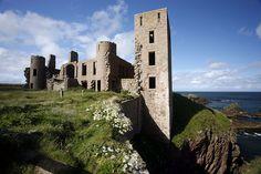 The Winter Sea's Slains Castle, Cruden Bay, Scotland