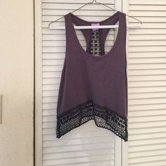 FINAL PRICE Urban outfitters crop top Amazing crochet detail! Urban Outfitters Tops Crop Tops