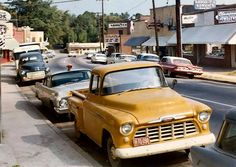 '60's Street scene and parked cars