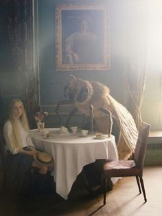 Tim Walker, Lucan Gillespie takes tea with the honey bee, 2012
