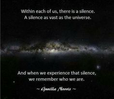 There is a silence within each of us...