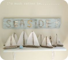 sailboats for the beach cottage