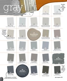 Many Shades of Gray Paint - Interiors By Color