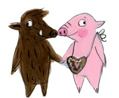 Pig Illustration, Illustrations, Pig Drawing, Pigs, Pickles, Scooby Doo, Princess, Drawings, Animals