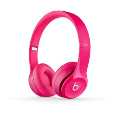 Beats Solo2 Headphones (Pink) | Beats by Dre ($185) ❤ liked on Polyvore featuring accessories, headphones, electronics, tech i earphone