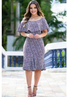 vestido sino estampado titanium jeans paola santana via evangelica Elegant Dresses, Pretty Dresses, Beautiful Dresses, Casual Dresses, Fashion Dresses, African Print Fashion, Dress Patterns, Trending Outfits, Designer Dresses