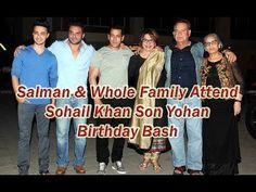 Salman & Whole Family Attend Sohail Khan Son Yohan Birthday Bash.Abdul Rashid Salim Salman Khan is an Indian film actor, producer, occasional singer and tele. Top 10 News, National Film Awards, Indian Hindi, Salman Khan, Film Industry, Birthday Bash, Sons, Bollywood, Singer