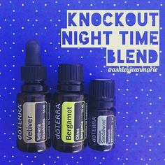 Diffuse the Knockout Nighttime Blend to promote calm feelings and restful sleep. I only use vetiver when I know I will get a full 7-8 hours of sleep, otherwise I wake up groggy *2 drops vetiver *4 drops bergamot *2 drops sandalwood* Vetiver is calming and grounding, bergamot and Hawaiian sandalwood reduce tension and stress. I throw in a few drops of lavender when I really want to bring out the big guns #aromatherapy #essentialoils #doterra #diffuserblend (from ashleyjeanmarie on Instagram)