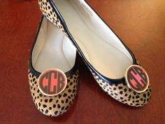 Monogrammed Shoe Clips. $35.00, via Etsy. Giveaway on www.dixiedelights.blogspot.com