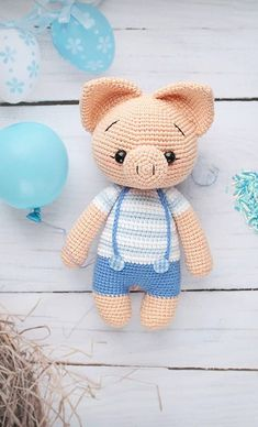 30 Models Of Crochet Toys Free, Any Child Will Love The New 2019 - Page 13 of 30 - apronbasket .com amigurumi free pattern, amigurumi for beginners, amigurumi doll, amigurumi pattern Crochet Pig, Crochet Teddy Bear Pattern, Crochet Animal Patterns, Stuffed Animal Patterns, Crochet Crafts, Crochet Dolls, Crochet Projects, Doll Amigurumi Free Pattern, Amigurumi Doll